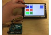 A Basic GTT Client Library API Demo HMI for Arduino Uno I2C