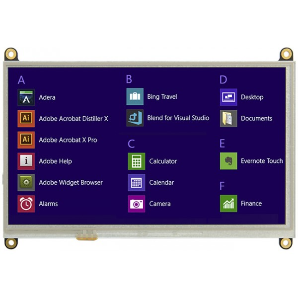 7 inch HDMI TFT Display with Resistive or Capacitive Touchscreen