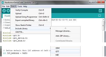 TFT HMI API | GTT Client Library API Demo HMI for Arduino
