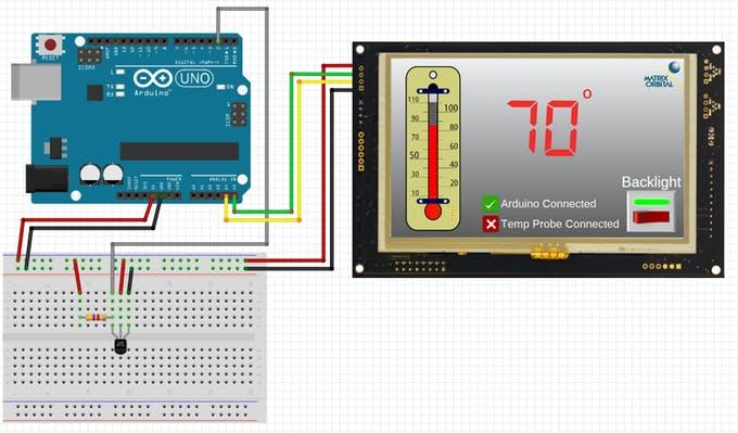 Intelligent LCD | GTT TFT Serial I2C USB Display Arduino One Wire